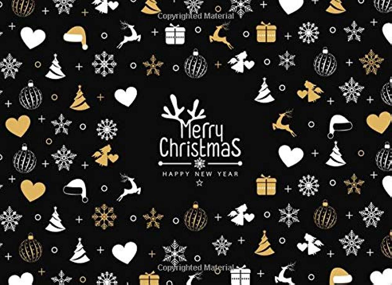 仕方時間とともに拒絶Merry Christmas & Happy New Year: Guest Book: Gold & Silver Ornaments Party Supplies Sign In Book