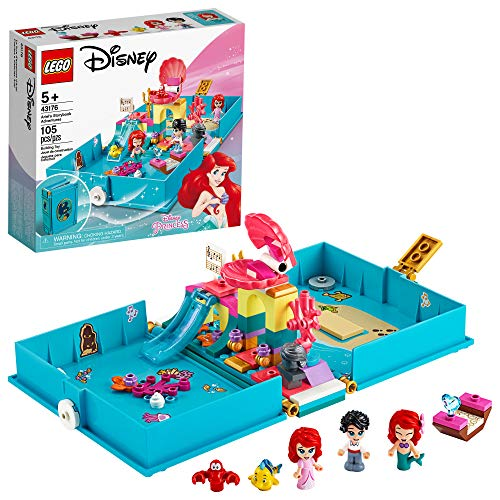 LEGO Disney Ariel's Storybook Adventures 43176 Creative Little Mermaid Building Kit, New 2020 (105 Pieces)