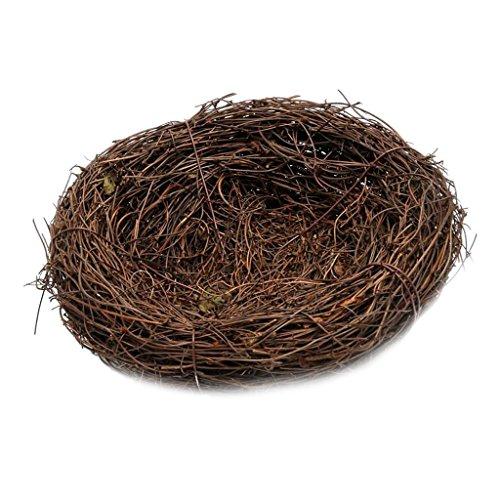 Sharplace Natur Rattan Birds Nest Frühling Dekoration Requisiten Garten - Braun, 35cm