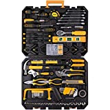 198 Piece Mechanics Tool Set Socket Wrench Auto Repair Tool Combination Mixed Tools Set Hand Tool Kit with Plastic Toolbox Organizer Storage Case