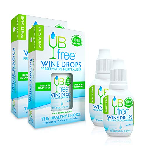 UBfree Wine Sulfite Remover | An Organic and Discrete Alternative to a Wine Wand or a Wine Filter | Enjoy White Wine Without the Headaches and Allergies | Made in New Zealand | 2 Pack