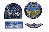 Pacto Weyland USCM Marines Yutani Nostromo extranjeros parche juego de 4