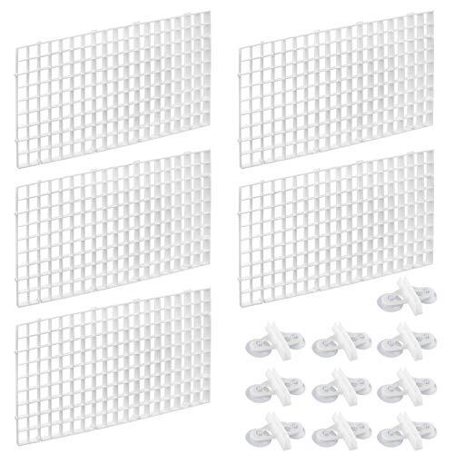 Dadabig 5 Piezas de Divisor de Acuario Rejilla de Plástico para Acuario Separador de Bandeja para Peces con Clips de Aislamiento,Blanco (30 * 15cm)