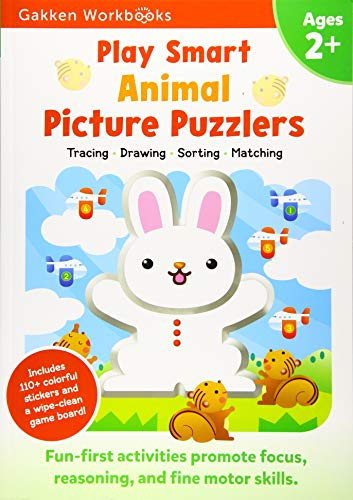 Play Smart Animal Picture Puzzlers Age 2+: At-home Activity Workbook (10)