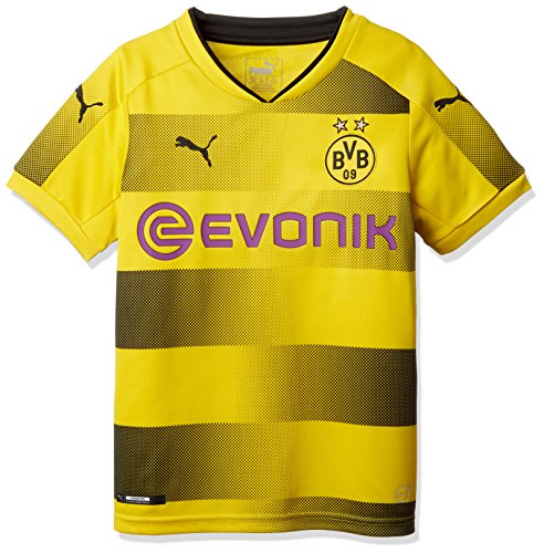 PUMA BVB Local Temporada 2017/2018 Camiseta, Niños, Amarillo, 152