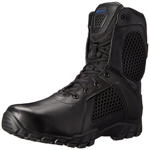 Bates Mens Strike 8 inch Waterproof Black Leather Boots 41 EU