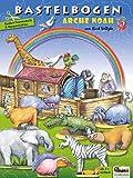 ATELIER COLOR Arca de Noé con animales, barco juguete creativos de papel para niños 5+ años para recortar, manualidades, jugar con modelo 3D