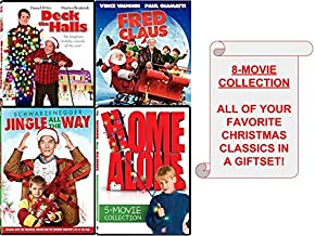 Family & Kids Christmas 8-Movie DVD COLLECTION (Home Alone/ Home Alone 2: Lost in New York/ Home Alone 3/ Home Alone 4:Taking Back The House/ Home Alone 5: Holiday Heist/ Jingle All The Way/ Fred Clau