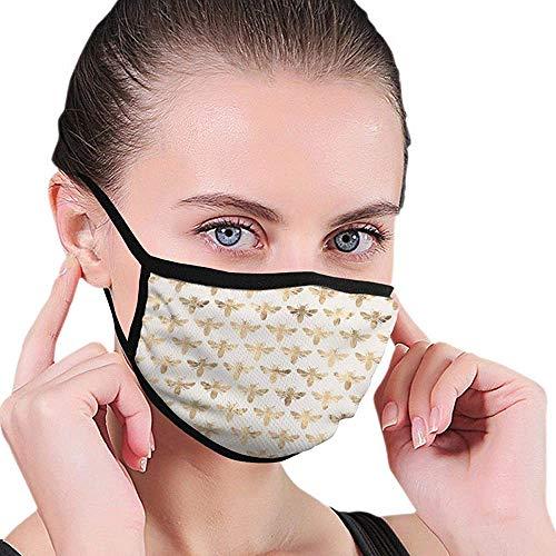 Gezichtsmasker Honing Bijen Elastische Oorlus Ademend Winddicht Unisex School Outdoor Warm Gift Gezicht Masker Mond Cover Wasbaar Herbruikbaar Werk