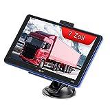 7 Zoll GPS Navigationsgerät für Auto LKW PKW KFZ Navigation für Auto Touchscreen 8GB 256MB Sprachführung Blitzerwarnung mit POI,2020 Europa UK Karten(kostenloses Karte-Update)