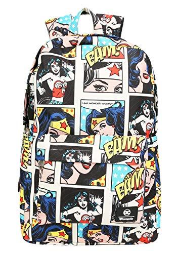 Loungefly DC Comics Wonder Woman Comic Panel Print Backpack Standard