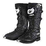 O'NEAL | Botas de Motocross | MX Enduro | Protección de la suela de metal, comodidad gracias a la tela de malla de aire, hebillas fácilmente ajustables | Bota de piloto | Adultos | Negro | Talla 42