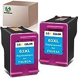 Get Economink Remanufactured Ink Cartridge Replacement for HP 63 63XL 63 XL for OfficeJet 3830 5252 4650 5258 4655 4652 5200 Envy 4520 4512 4513 3634 DeskJet 3636 3639 1110 1111 3630 1112 ,2 Tri-Color Just for $32.99