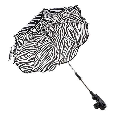 Wasserdicht Sonnenschirm Gartenschirm Terrassenschirm - Zebra-Streifen, wie beschrieben