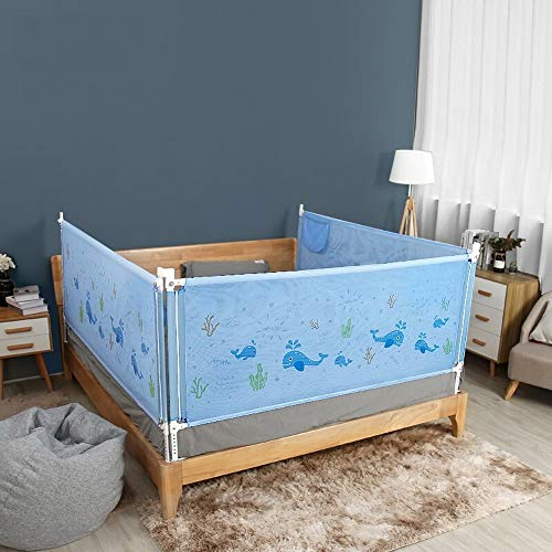 Read About ROBDAE Kids Bed Rail Bed Fence Mesh Cloth Bed Guardrail Crib Baffle Anti-Fall Guardrail V...