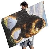 Fantasie Löwe Tier Wald Druck Badetücher Gemütlich Strandtuch White 150x75 cm