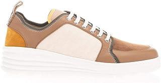 Luxury Fashion | Fendi Men 7E1345AAWYF19NZ Beige Leather Sneakers | Spring-summer 20