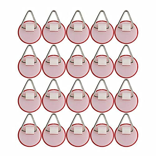 20 PCS Wall Hooks, Self Adhesive Hooks, Wall Dish Hook Invisible Adhesive Hanger Portable Vertical Plate Holder