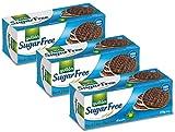 Gullon zuckerfreie dunkle Schokolade Verdauungskekse 270g (3er Pack)