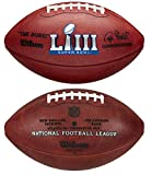 Wilson NFL Super Bowl LIII (53) Official Leather Football in Box - New England Patriots vs Los Angeles Rams
