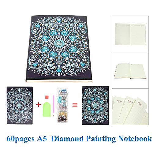 heummyo Notizbuch A5 Tagebuch 60 Seiten Diamant-Malerei DIY Geschenk (03)