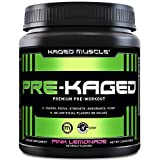 Pre Workout Powder; KAGED MUSCLE Preworkout for Men & Pre Workout Women, Delivers Intense Workout Energy, Focus & Pumps; One of the Highest Rated Pre-Workout Supplements, Pink Lemonade, Natural Flavor