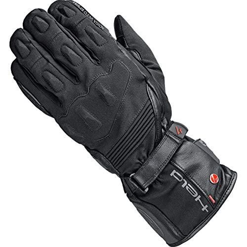 Held Motorradhandschuhe lang Motorrad Handschuh Satu 2in1 Handschuh GTX schwarz 10, Herren, Tourer, Ganzjährig, Leder/Textil