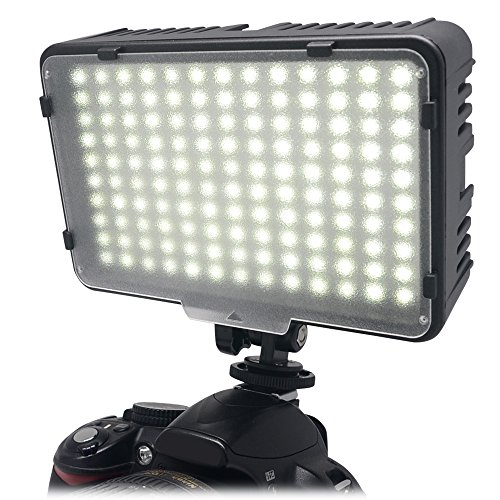 Mcoplus - 130 LED Ultra High Power Panel Digital Camera / Camcorder Video Light, LED per Canon, Nikon, Pentax, Panasonic,Sony, Samsung and Olympus Digital SLR Cameras