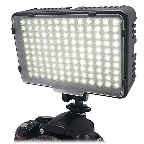 Mcoplus® 130 LED regulable de Ultra alta potencia Panel Digital cámara / videocámara de Video luz, luz de LED para las cámaras SLR digitales Canon, Nikon, Pentax, Panasonic, Sony, Samsung y Olympus