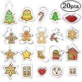 20 Stück Plätzchen Ausstecher, Ausstechformen Weihnachten Keksausstecher Set für Keks, Backen Fondant, Plätzchen, Tortendekorationen