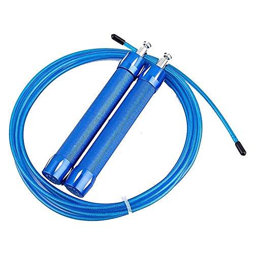 XWX Saltando Cuerda Aleación De Aluminio Deporte Saltando Cuerda Ajustable Aptitud Saltarse Ejercicio Adulto Hombres Mujeres (Color : Blue)