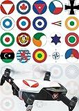 Robot de Drones insigne Sign International aériennes militaires autocollants Imprimé Film adhésives–Modèle Stickers Drone Accessoires emblème–Impression numérique professionnel prédécoupé