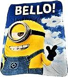 Despicable ME Minions BOB Cozy Plush Throw Blanket '120 x 140'
