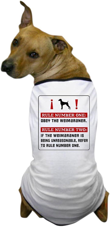 CafePress  Obey the Weimaraner Rules Dog TShirt  Dog TShirt, Pet Clothing, Funny Dog Costume