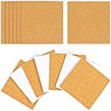 Millennial Essentials 25 Pack Self-Adhesive Cork Squares 4 x 4 Inches Cork Backing Sheets Cork Tiles for Cork Coasters and DIY Crafts