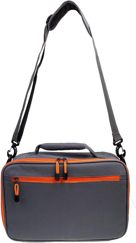 DYNWAVE Fly Fishing Reel Bag Gear Case Box 6 Compartment Tackle Handbag Shoulder Bag
