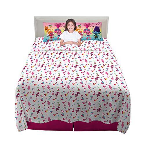 Franco Kids Bedding Super Soft Sheet Set, 4 Piece Full Size, Trolls