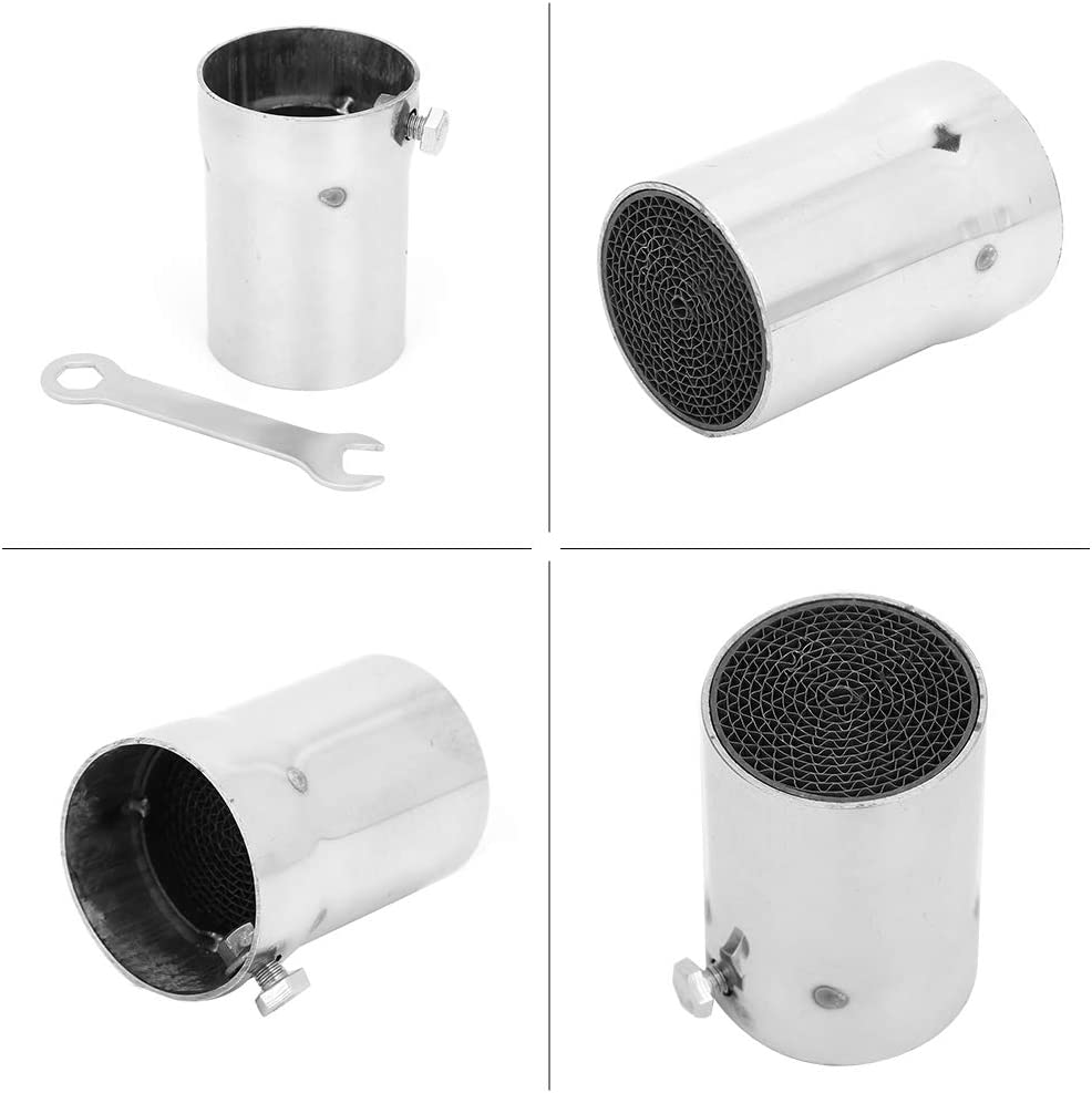 Noise Sound Silencer Universal Motorcycle Exhaust Pipe Silencer with Five Different Sizes and Types to Reduce DB sound levels Tpye 2 Exhaust Pipe Muffler
