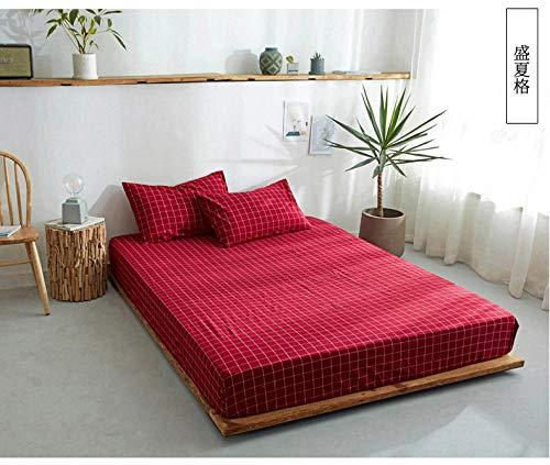 Amswsi Lenzuolo Lavato Lenzuolo in Puro Cotone Semplice Plaid copriletto Tinta Unita-Stile Mezza Estate_150 * 200 cm + 25 Lenzuolo