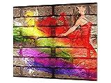 Cubre vitros de Cristal Templado - Tabla para Cortar de Cristal – Tabla para amasar y Protector de...