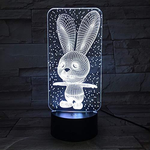 Nur 1 Stück Rabbit Cute Bunny Baby Schlafzimmer Lampen Nachtlicht Cartoon Kunststoff schlafen LED Kinder 3D Lampe Glühbirne Nachtlicht mit