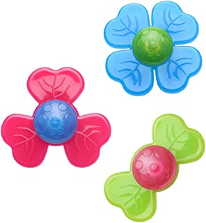 TOYANDONA 3Pcs Suction Cup Spinning Top Whirly Bath Baby Toys Suction Sucker Kids Educational Toys for Water Games Kids To...