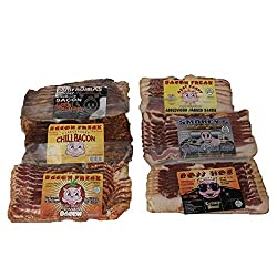 Bacon Freak 6 Pack Dry Cured Gourmet Bacon Combo 84 Ounces Total