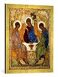 Kunst für Alle '–Fotografía enmarcada de trinität la Antigua testamentes trinitaet la Antigua testamentes, de impresión handgefertigten imágenes de Marco, 50x 70cm, Oro Raya