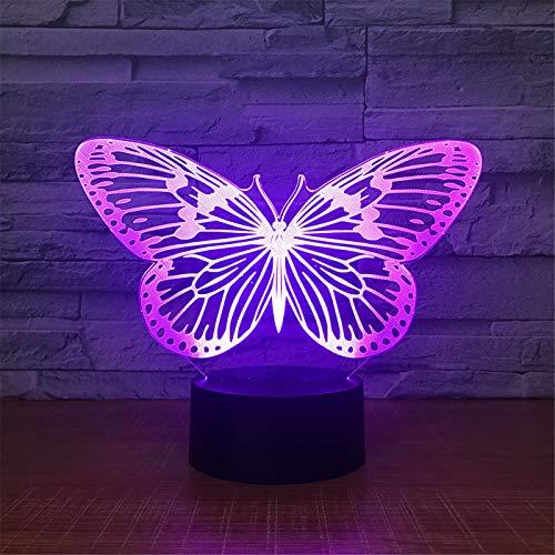 Papillon Led 3D Night Light Table Lampe 7 Changement De Couleur Lampe De Poche Usb Contrôleur Rvb Cadeau Pour Enfants