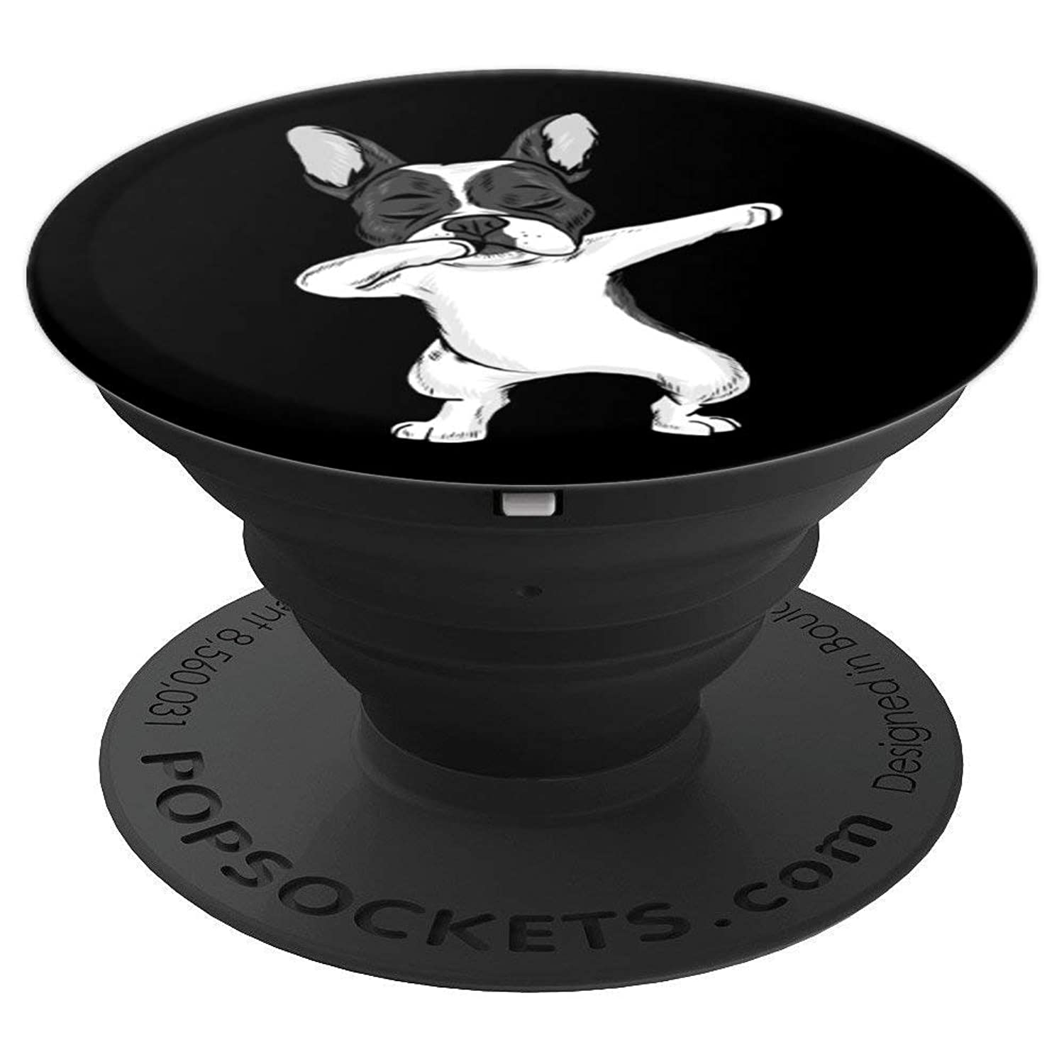 Dabbing French Bulldog Frenchie Dab Girls Black & Design - PopSockets Grip and Stand for Phones and Tablets