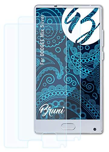 Bruni Schutzfolie kompatibel mit DOOGEE Mix Silver Folie, glasklare Bildschirmschutzfolie (2X)