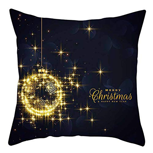 Daylin Christmas Decorations Sale,Set of 4 Cushion Cover Home Decor Xmas for Home Christmas Ornaments Party Gifts 45 x 45 cm (E-1PC)
