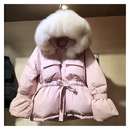 ZYHWS - Chaqueta de invierno grande para mujer, color blanco y cálido, para decoración de la cabeza (color: color 2, tamaño: mediano)