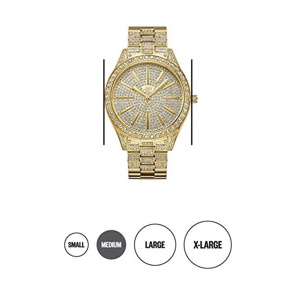 JBW Luxury Women's Cristal 0.12 Carat Diamond Wrist Watch with Stainless Steel Link Bracelet